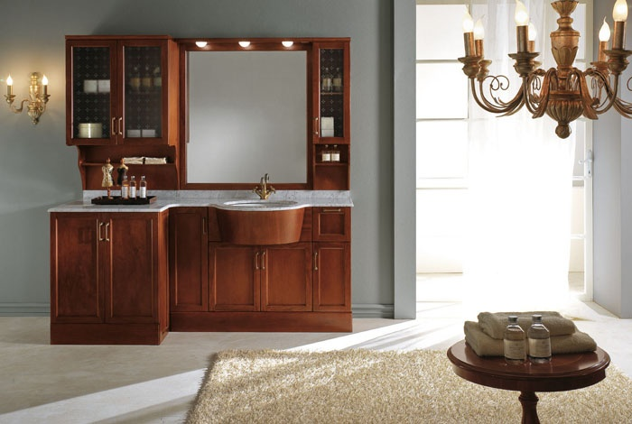 Un bagno classico firmato btm bagni l 39 arredo bagno - Mobili per bagni classici ...